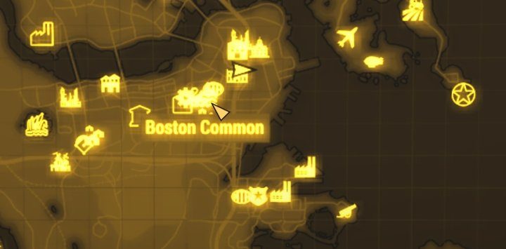 Boston Common On Fallout 4 U0026 39 S Map