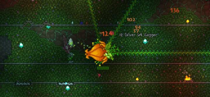 Terraria Plantera Boss Fight