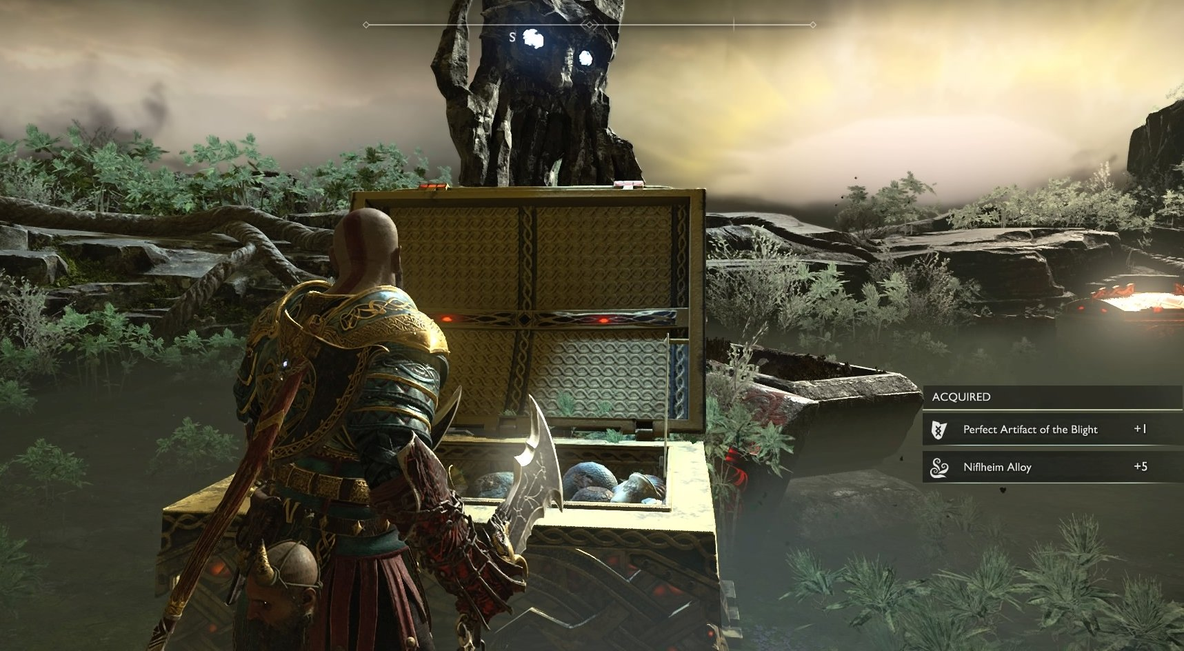 God of War Niflheim: Cursed Mist in Ivaldi's Workshop