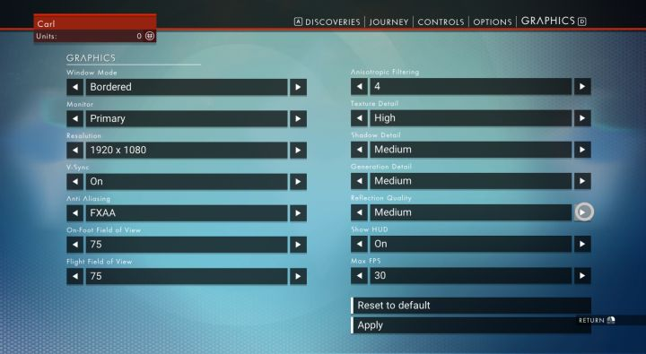 No Man's Sky: Fixing Flickering and Graphics Settings