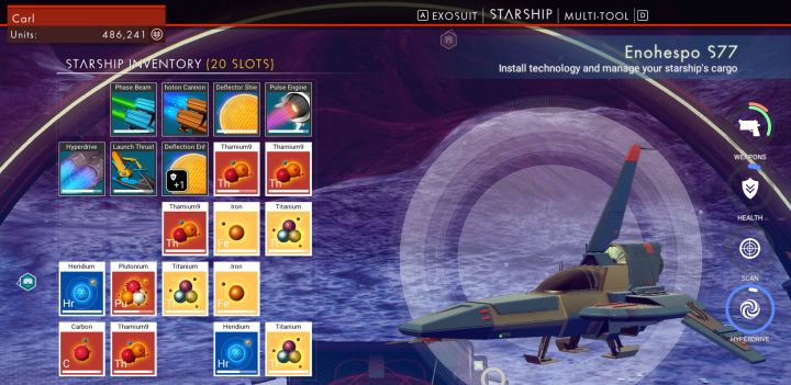 No Man's Sky: Best Elements to Carry to Recharge Gear