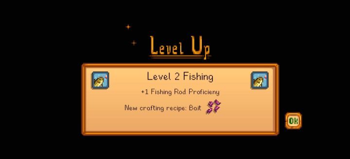 Stardew Valley Fishing skill experience