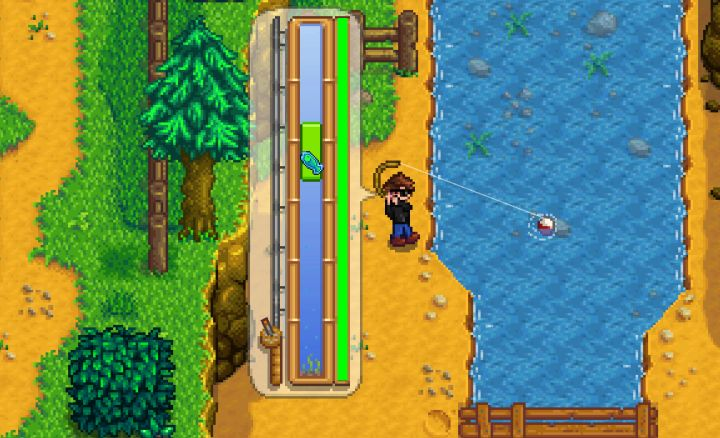 Stardew Valley Fishing Mini-game lets you catch fish