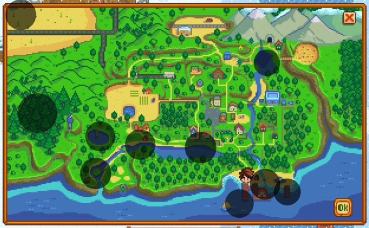 Stardew Valley Fishing Spots Map