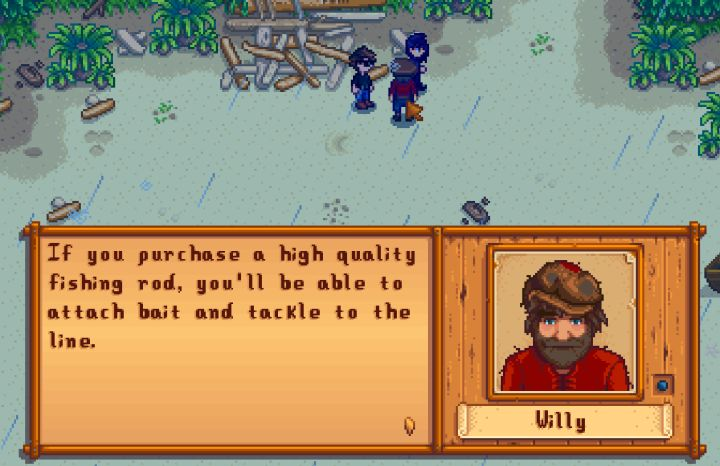 Stardew Valley Fishing Poles are bought from Willy when you are high enough level to use them.