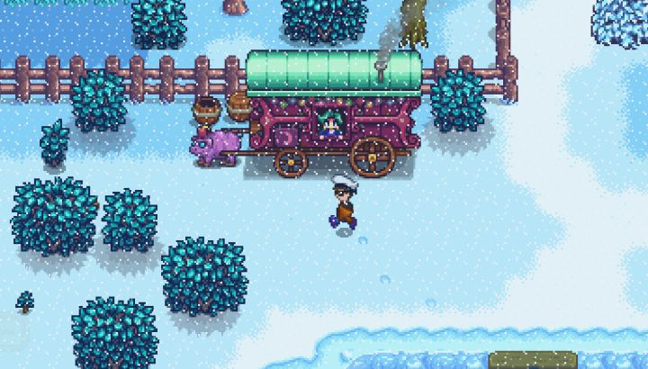 The traveling cart in Stardew Valley