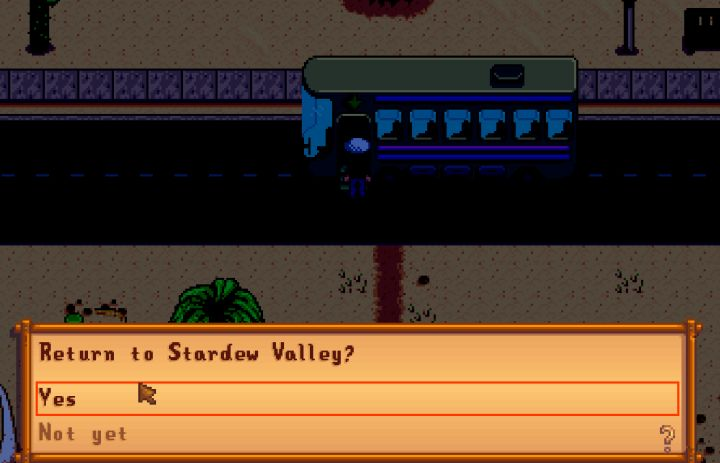 return home from the skull cavern in Stardew Valley