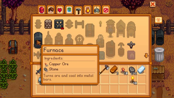 How to craft a furnace in Stardew Valley