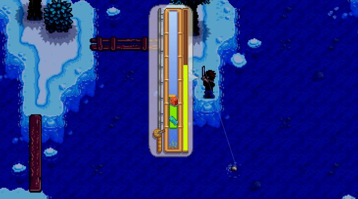 Winter fishing in Stardew Valley