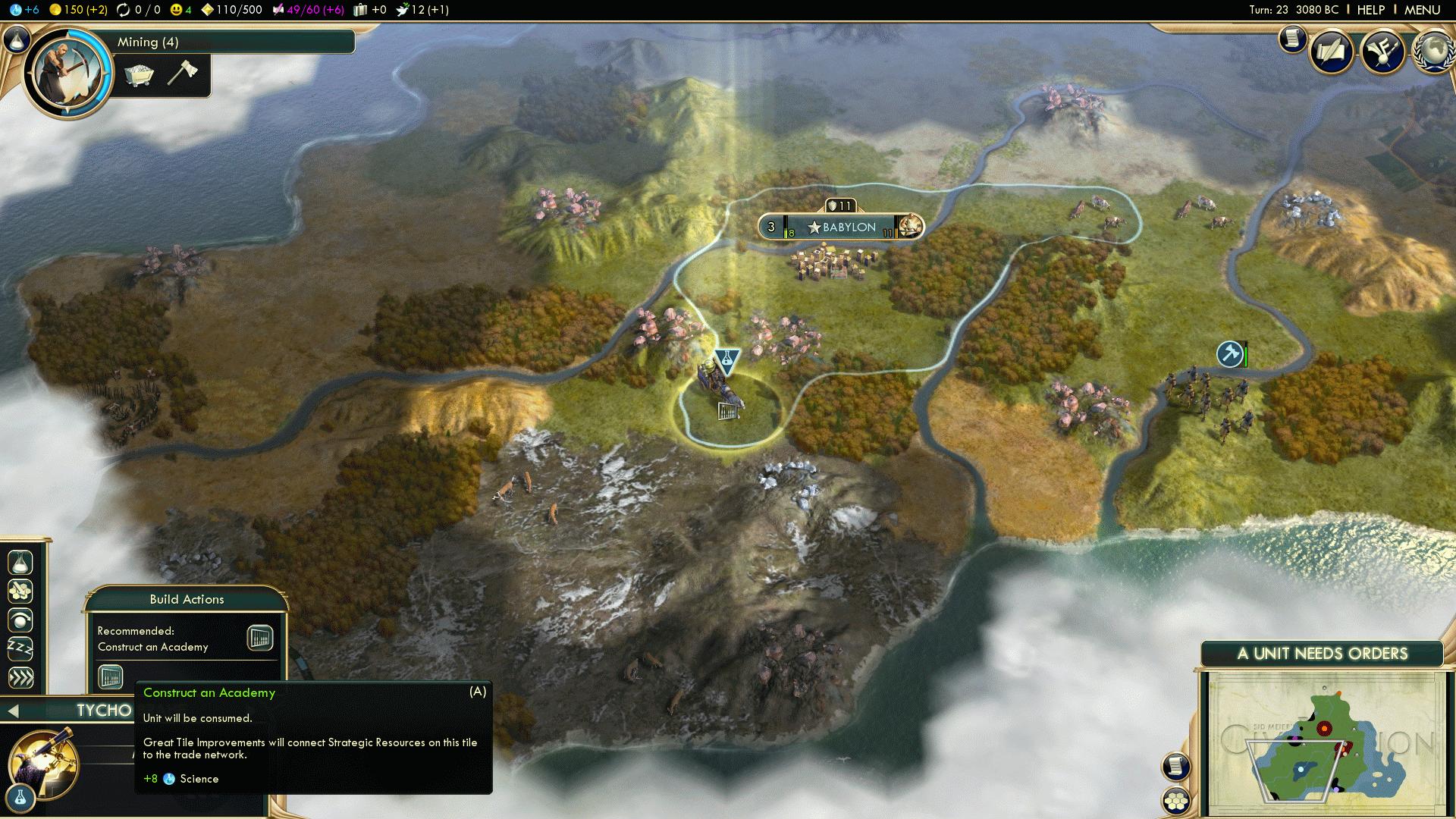 Babylon Game - Immortal Scientific Victory in Civ 5 BNW