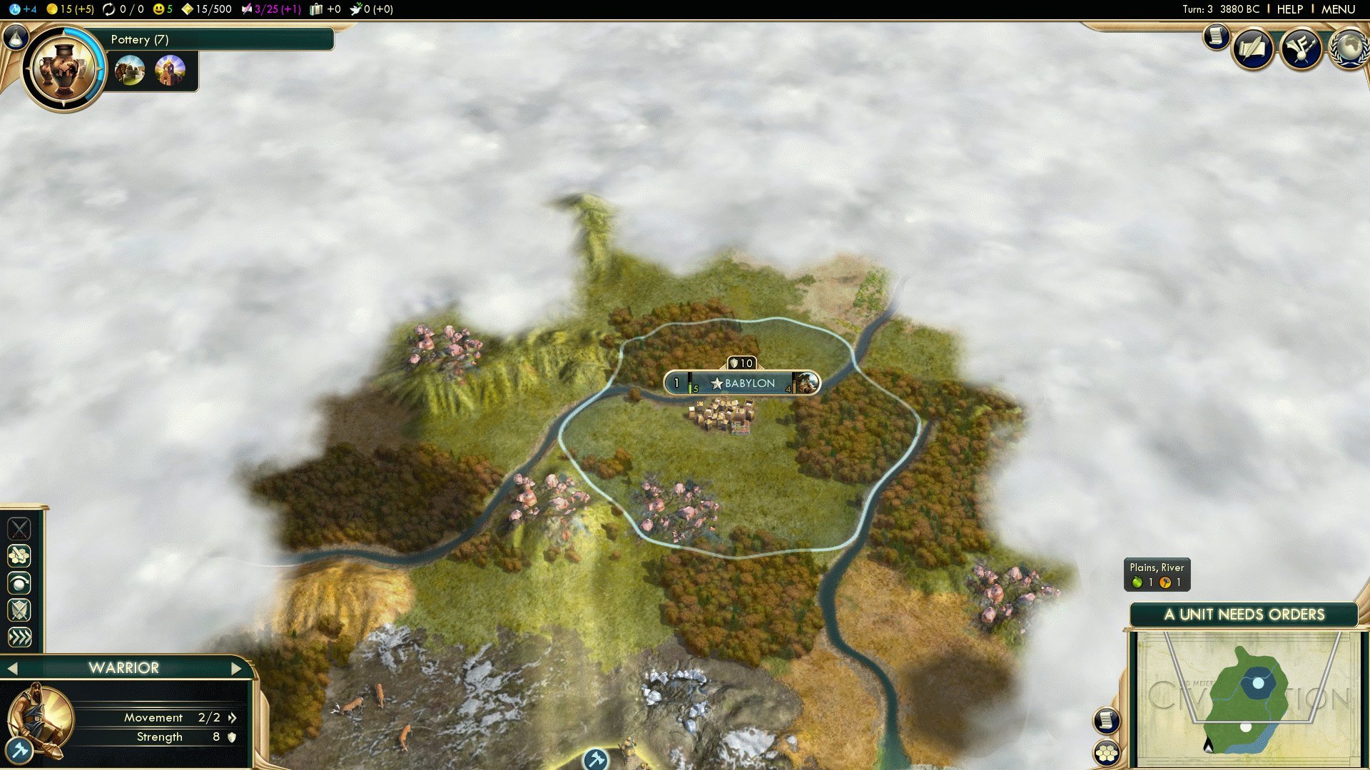 Babylon Game - Immortal Scientific Victory in Civ 5 BNW